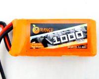 Orange 1000mAh 3S 40C/80C Lithium polymer battery Pack (LiPo)