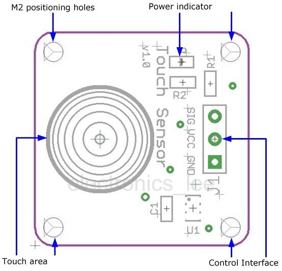 Digital Sensor TTP223B Module Capacitive Touch Switch