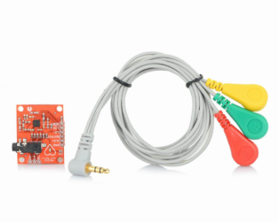 Heart Rate Monitor Kit with AD8232 ECG sensor module - Good Quality (Robu.in)