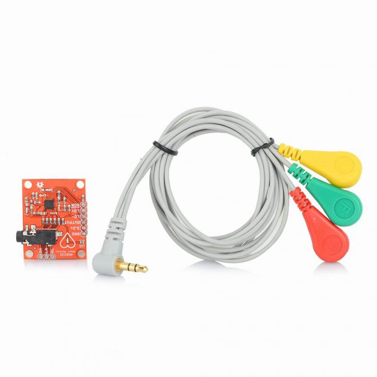 Heart Rate Monitor Kit with AD8232 ECG sensor module - Good Quality (Robu.in)