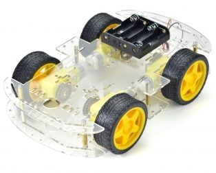 Longer version of 4 wd double layer smart car chassis (Robu.in)