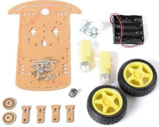DIY Transparent Motor Smart Robot Car Chassis Kit (Robu.in)