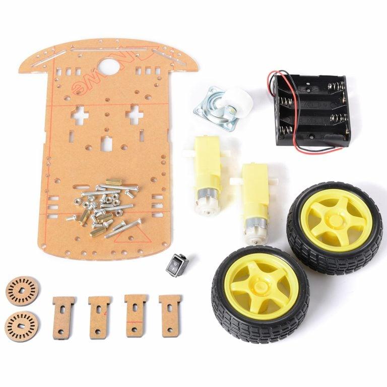 DIY Transparent Motor Smart Robot Car Chassis Kit (Robu.in)