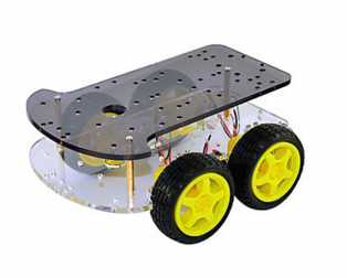 Longer version of 4 wd double layer smart car chassis