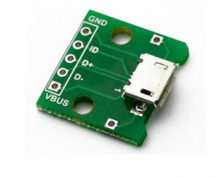 MICRO USB Turn Dip2.54 mm Upright Mother 5p Type B Mike Patch Straight Plug Adapter Plate Welding Head
