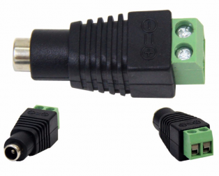 Male + Female 2.1 by 5.5mm for DC Power Jack Adapter 1