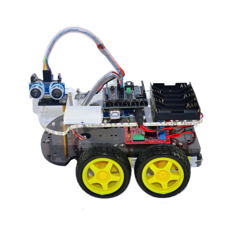 R3 SG90 4WD Robot Bluetooth Smart Car Chassis Kit For Arduino MCU 1Z