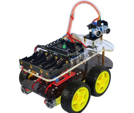 Multi-Functional 4WD Robot Car Chassis Kit with ARDUINO UNO R3