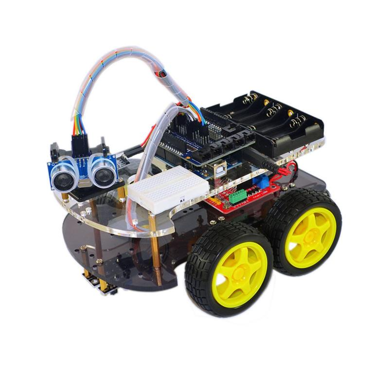 Multi-Functional 4WD Robot Car Chassis Kits UNO R3 For Robot Car Assembly