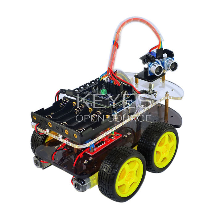 Multi functional wd robot car chassis kits with arduino