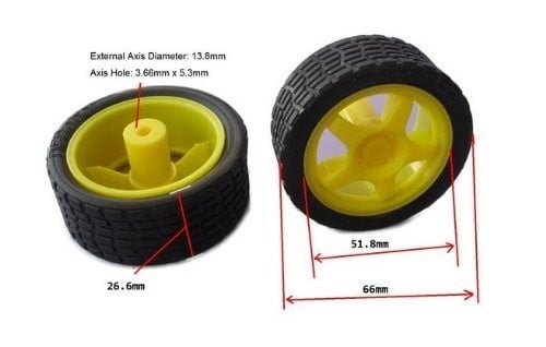 Robot Smart Car Wheel Tyre for BO Motor