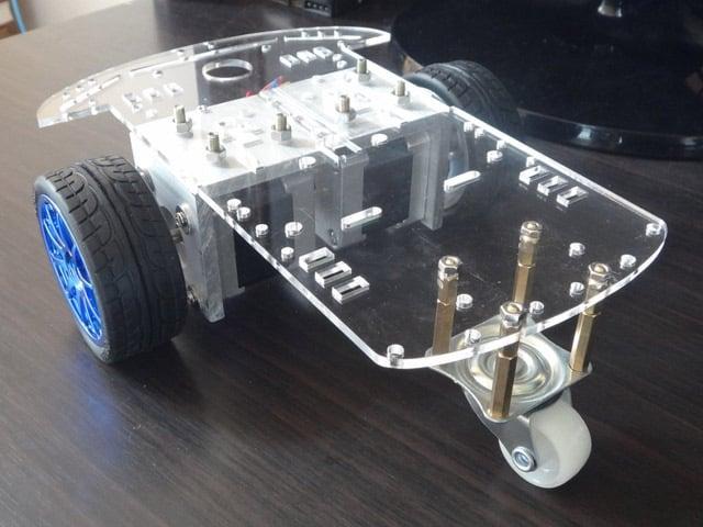 65mm robot smart car wheel blue indian online for Stepper motor rc car