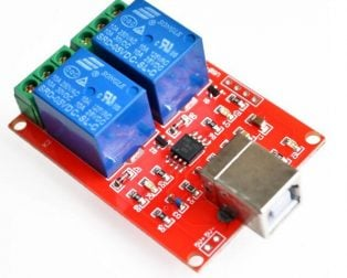 5V 2 channel USB PC Intelligent Control Relay Module