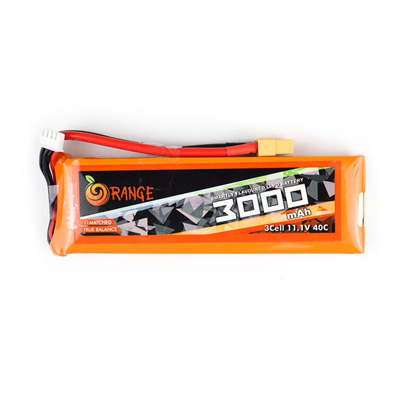 Orange 3000mAh 3S 40C/80C Lithium polymer battery Pack (LiPo)