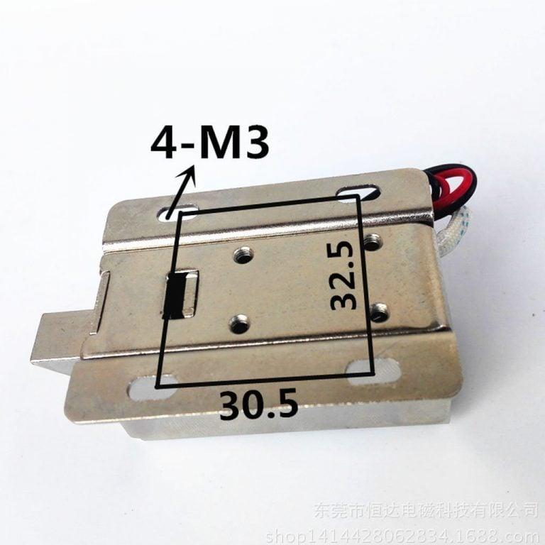 Solenoid door lock