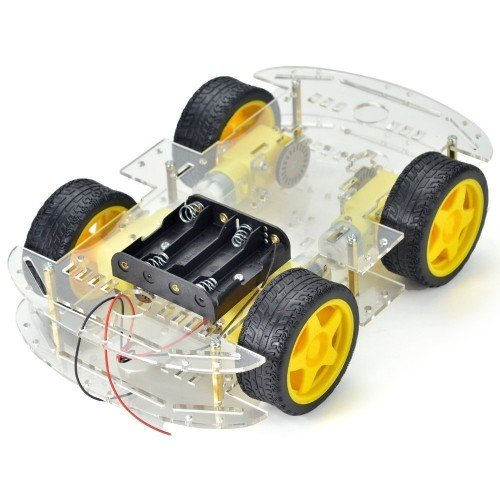 Longer version of 4 WD Double Layer Smart Car Chassis Kit