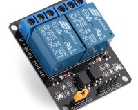 2 Channel isolated 5V 10A relay module Optocoupler for Arduino PIC ARM (Robu.in)