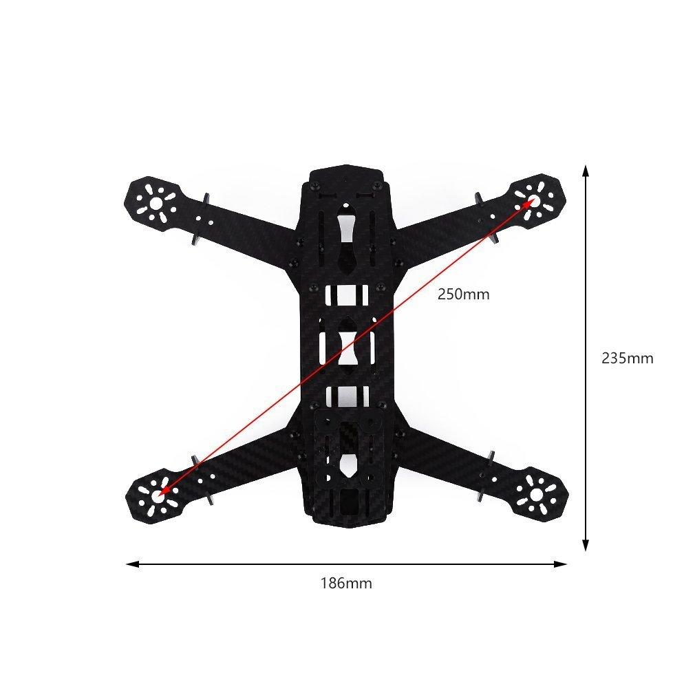 Q250 Quadcopter Strong Carbon Fiber FPV Racing Frame(250mm) Kit