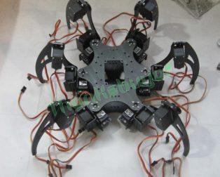 Aluminium-Robotic-font-b-Hexapod-b-font-Spider-Six-3DOF-Legs-font-b-Robot-b-font