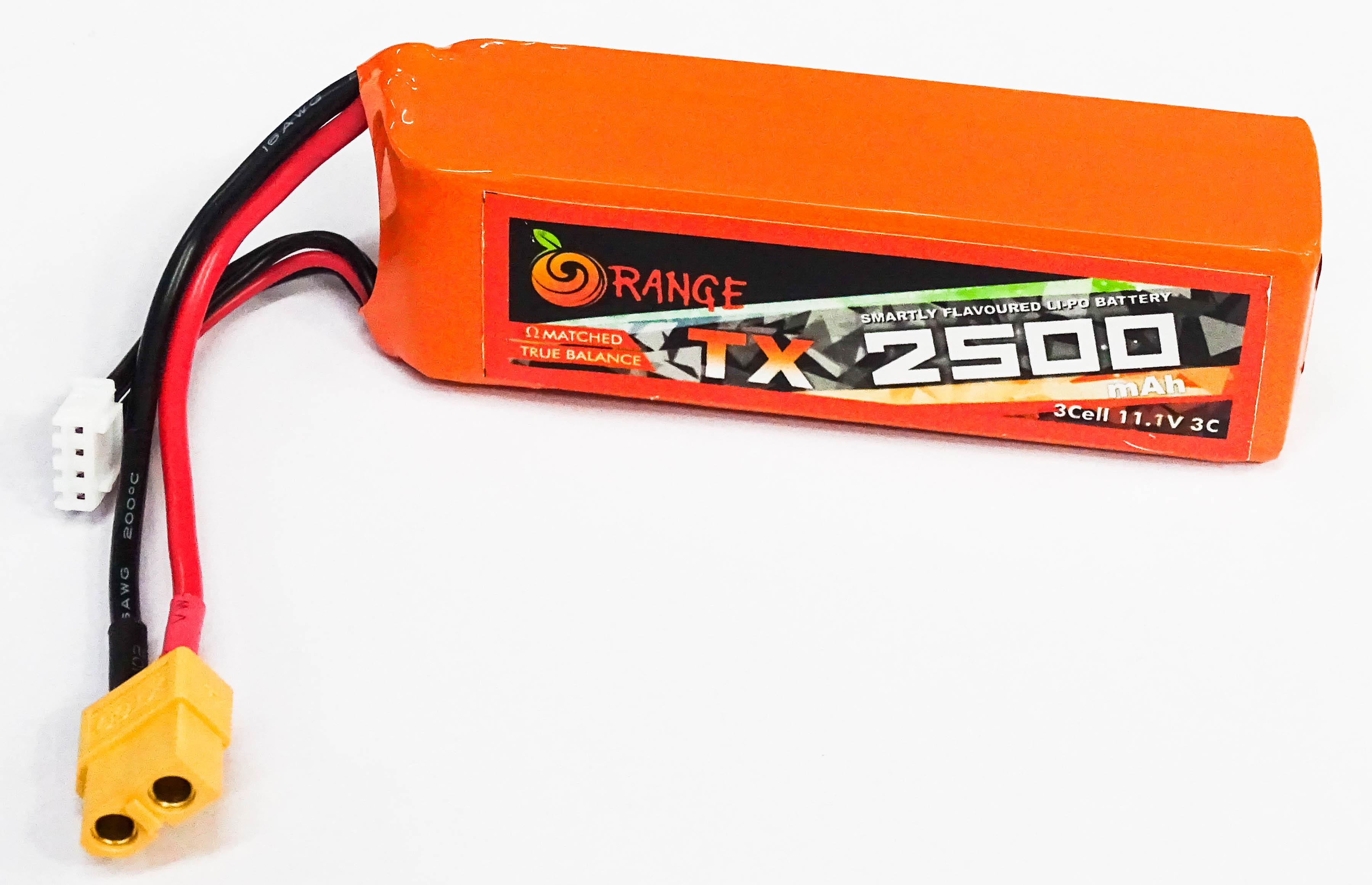 ORANGE 2500mAh 3S 3C(11.1 v)(LiPo)