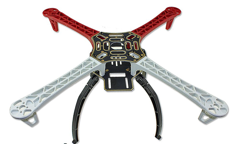 F450 450 Quadcopter MultiCopter Frame kit (White+Red) Tall Landing Gear and Integrated PCB