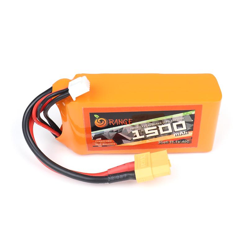 ORANGE 1500mAh 3S 40C (11.1 v) Lithium Polymer Battery Pack (LiPo)