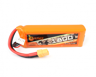 ORANGE 1800mAh 3S 40C (11.1 v) Lithium Polymer Battery Pack (LiPo)
