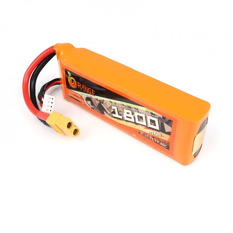 ORANGE 1800mAh 3S 40C (11.1 v) Lithium Polymer Battery Pack (LiPo)