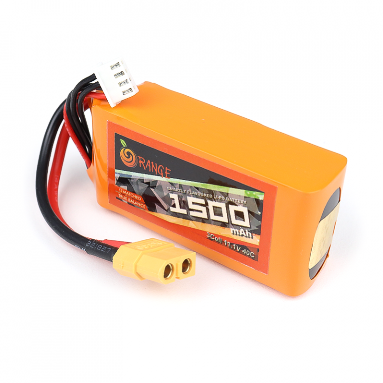 ORANGE 1500mAh 3S 40C (11.1 v) Lithium Polymer Battery Pack (LiPo)