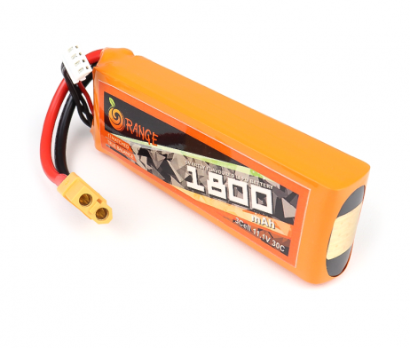 ORANGE 1800mAh 3S 30C (11.1 v) Lithium Polymer Battery Pack (LiPo)