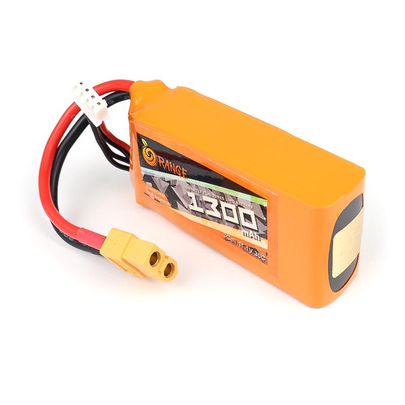 ORANGE 1300mAh 3S 30C (11.1 v) Lithium Polymer Battery Pack (LiPo)