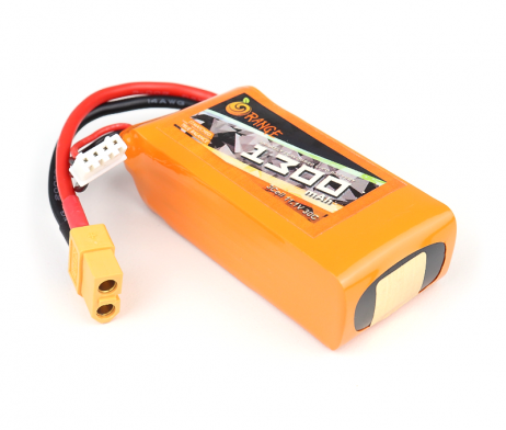 ORANGE 1300mAh 3S 30C (11.1 v) Lithium Polymer Battery Pack (LiPo)