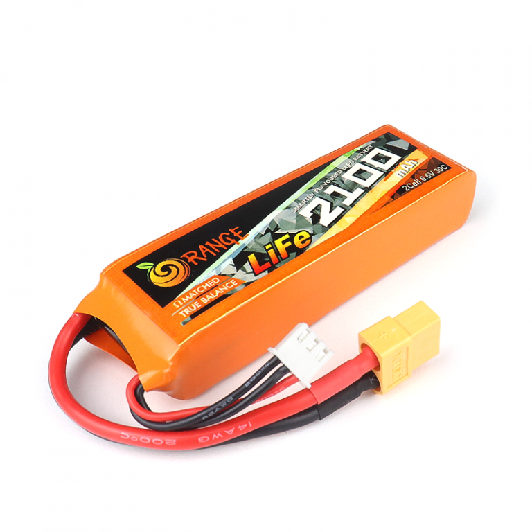 ORANGE Li-Fe 2100mAh 2S 30C/60C LITHIUM IRON PHOSPHATE BATTERY PACK (LiFePO4)