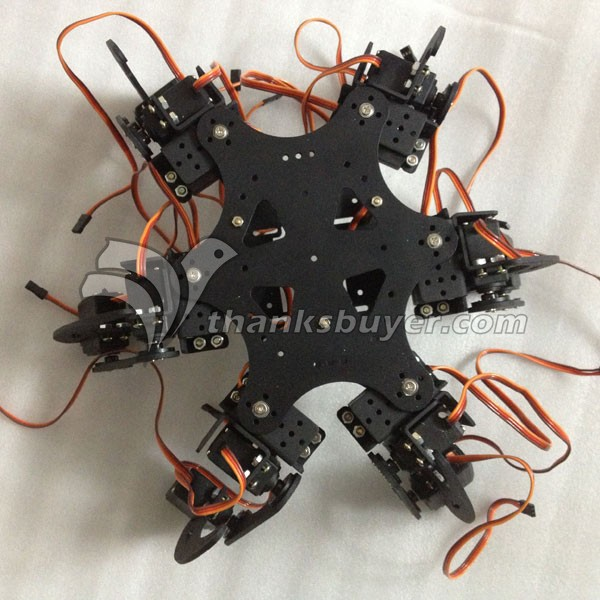 DIY 18DOF Aluminium Hexapod Spider Six 3DOF Legs Robot Kit with 32CH  Controller - Robu in | Indian Online Store | RC Hobby | Robotics