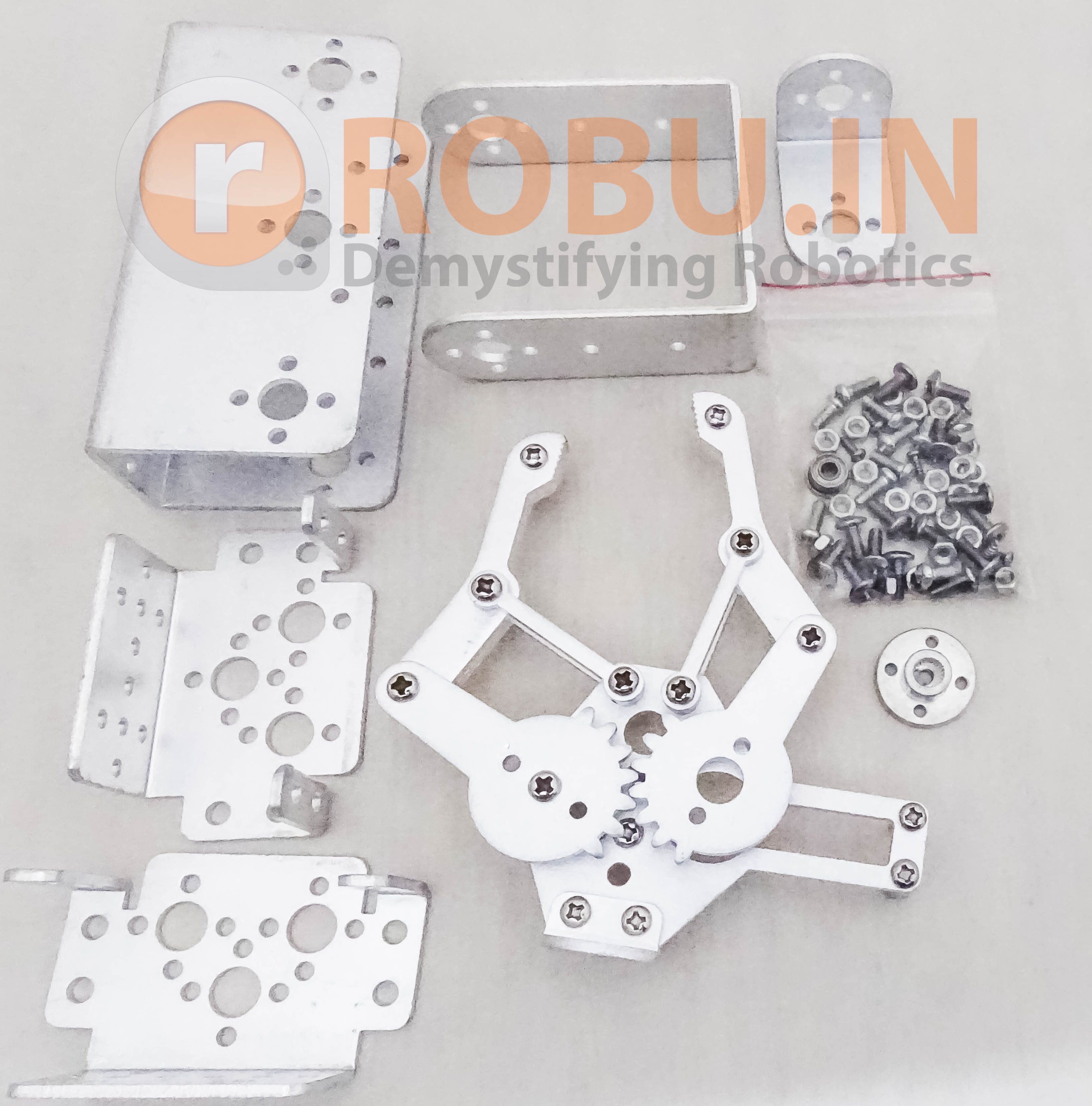 Full Set DIY 3DOF Robot Arm Manipulator Claw +2pcs Servo Brackets+Servo Horn(Not Assembly) Kit