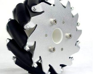 EasyMech 127mm Aluminium Mecanum wheels (Bearing type rollers) - Left