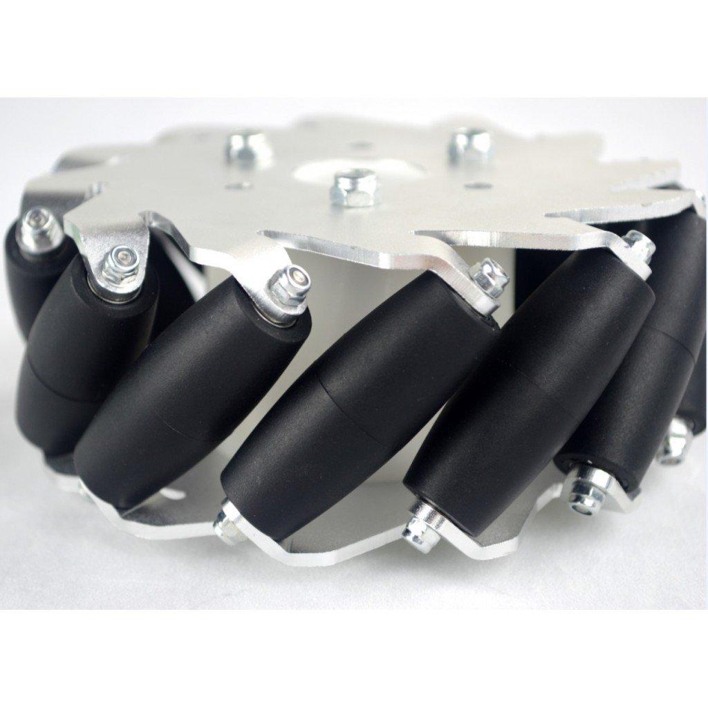 EasyMech 127mm Aluminium Mecanum wheels (Bearing type rollers)