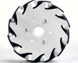 A set of 4 EasyMech 127mm Aluminum Mecanum Bearing Type Roller Wheels (2 Left and 2 Right)