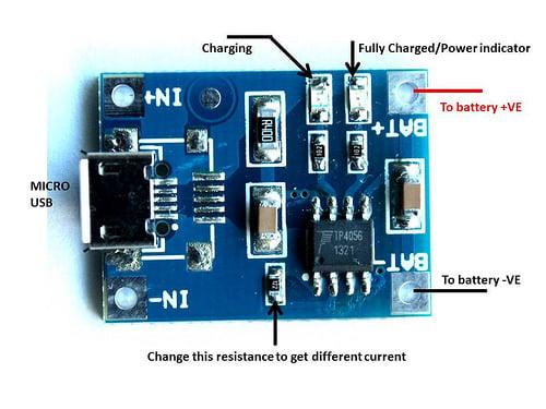 Tp4056 1a Li Ion Lithium Battery Charging Module Micro B