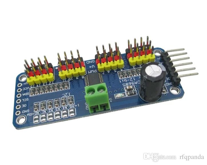 16-Channel 12-bit PWM/Servo Driver I2C interface PCA9685 for Arduino  Raspberry Pi - Robu in | Indian Online Store | RC Hobby | Robotics