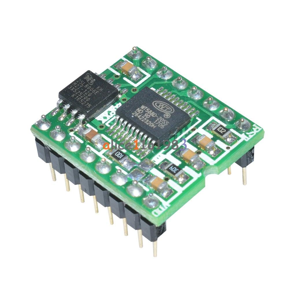 WT588D-16P Voice Sound Audio Player Module DC 2 8V-5 5V for Arduino