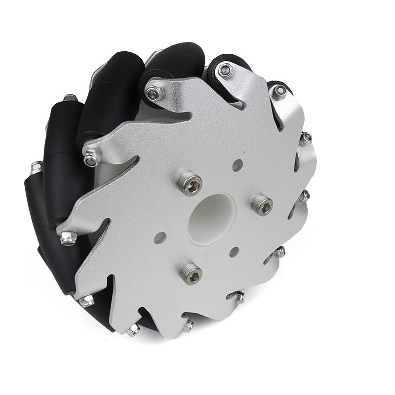 EasyMech 127mm Aluminium Mecanum wheels (Bush type rollers) - Left
