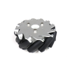 EasyMech 127mm Aluminium Mecanum wheels (Bush type rollers) - Left