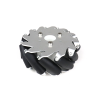 EasyMech 127mm Aluminium Mecanum wheels (Bush type rollers) - Right