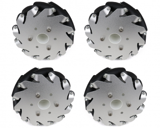 EasyMech A set of 127mm Aluminum Mecanum Wheels 2 Left and 2 Right - Bush Type Roller