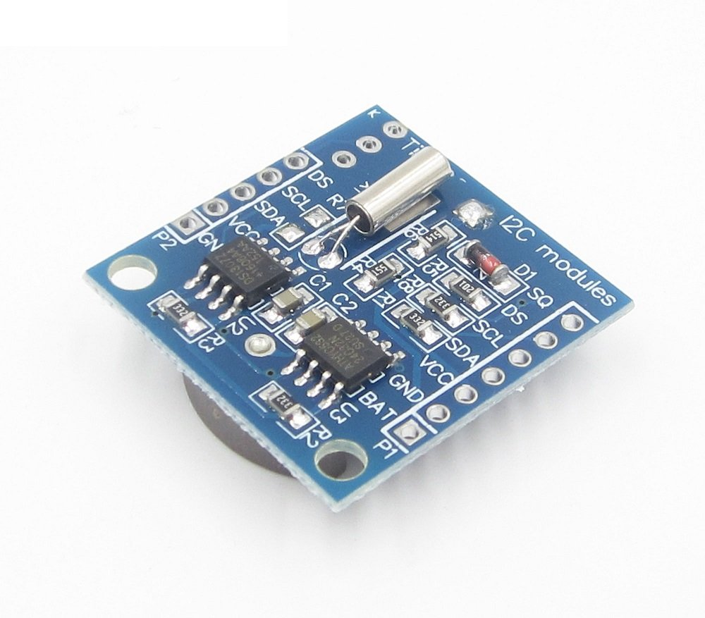 Real Time Clock Ds1307 Rtc I2c Module At24c32 Battery Digital Using 8051 Microcontroller With Hover To Zoom