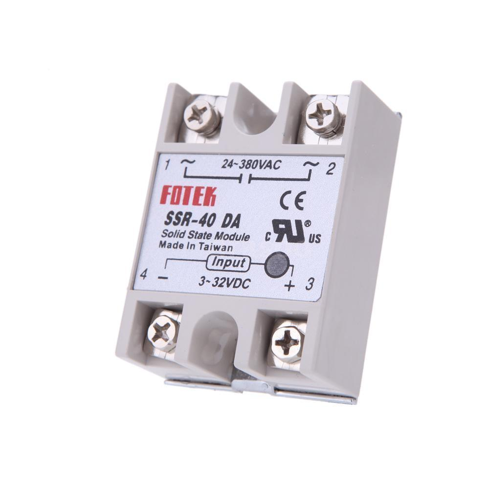 Dc To Ac Ssr 40da Solid State Relay Module 3 32vdc 24 380vac 40a Dimmer Hover Zoom