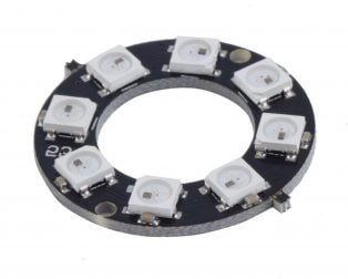 8 Bit WS2812 5050 RGB LED Built-in Full Color Driving Lights Circular Development Board