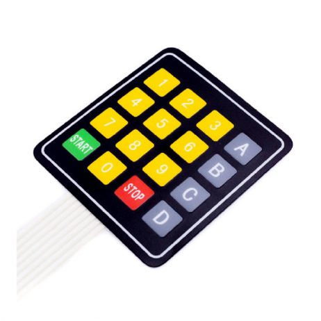 DC 12V 4x4 16 Key Matrix Membrane Switch Keypad