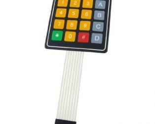DC 12V 4x4 16 Key Matrix Membrane Switch Keypad